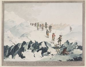 Christian von Mechel, Descent from Mont-Blanc in 1787 by H.B. de Saussure, copper engraving. Collection Teylers Museum, Haarlem.